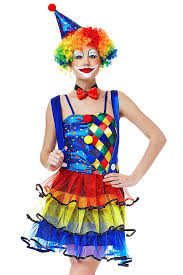 amazon com women big top clown halloween costume circus
