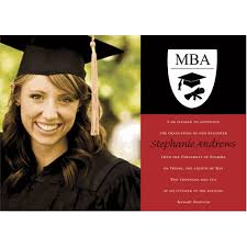 graduation announcements mba photo and black graduation announcements photo cards by ib