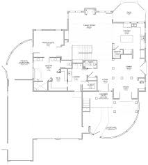 santa fe style home with walkout floor plan evstudio architect