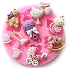Chocolate Molds Baby Shower Baby Shower Party 3d Silicone Fondant Mold For Cake Decorating