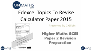 Functional Math Worksheets 2015 Edexcel Maths Gcse Predicted Topics For Higher Paper 2