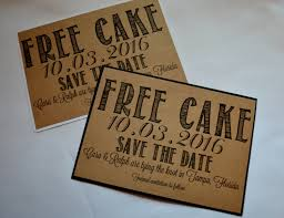 free save the date cards free cake save the date cards kraft rustic save the date