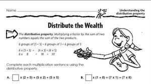 printables distributive property worksheet 5th grade ronleyba