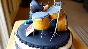 drummer birthday cake youtube