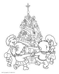 children christmas tree coloring