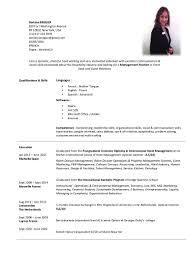 Curriculum Vitae Sample Format Thesis by Doriane Bregier Resume 2016