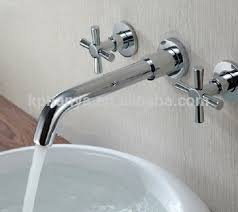 In Wall Bathroom Faucets In Wall Mounted Spout Basin Mixer Taps Faucets Brass With Two