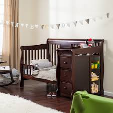 Crib Converts To Bed Storkcraft Calabria Crib N Changer Hayneedle