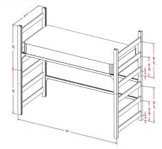 Bunk Beds  Bunk Bed Mattress Height Diy Loft Beds Bunk Bed Plans - Height of bunk beds