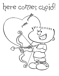 valentine coloring pages sweet cupid simple ca baby baby cupid