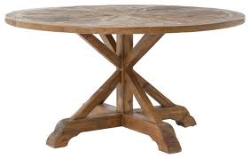 Rustic Round End Table Hughes Opio Round Dining Table Rustic Dining Tables By The