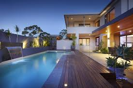 awesome natural design of the house with lap swimming pool designs