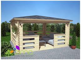 tonnelle de jardin en bois tonnelle en bois massif 16m 4x4 44mm