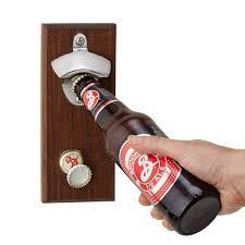 unique bottle opener magnetic bottle opener bottle cap catcher uncommongoods