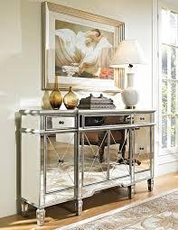 Tv Console Designs For Bedroom Amazon Com 60 U201d Mirrored Reflection Andrea Hall Console Cabinet
