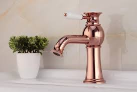 Gold Bathroom Faucets Contemporary Brass Bathroom Sink Faucet Rose Gold Fa14028b