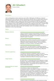 Scientific Resume Examples by Scientist Resume Samples Visualcv Resume Samples Database