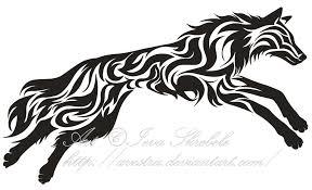 starry splatter wolf tribal design by wildspiritwolf on deviantart