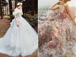 wedding flower dresses 25 incredibly breathtaking dresses with 3d flowers appliques