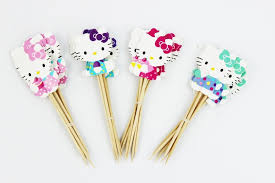 hello party supplies aliexpress buy 24pcs lovely cut cat hello cup cake