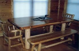 explore rustic log dining room u0026 game tables