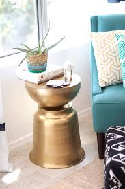 west elm martini table diy the west elm martini side table with a bowl planter kristi