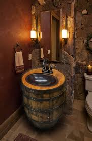 whiskey barrel sink hammered copper rustic by whiskeycartel for