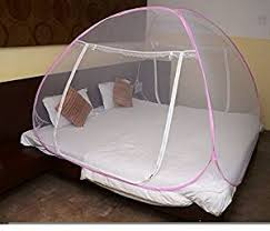 Net Bed Classic Foldable Mosquito Net King Size Double Bed With 2 Free