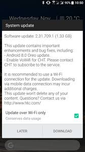 android system update htc u11 is now receiving the android 8 0 oreo update in taiwan