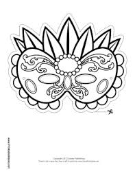fancy mardi gras printable fancy mardi gras mask to color mask