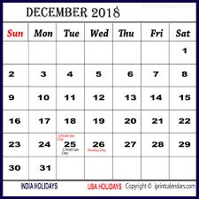 december 2018 calendar with holidays templates tools
