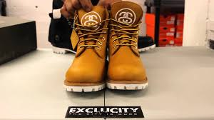 timberland x stüssy 6 inch boots wheat unboxing video at