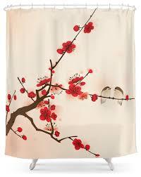 Plum Flower Curtains Society6 Oriental Plum Blossom In Spring Shower Curtain Asian