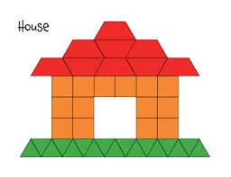 pattern blocks math activities pattern block mat house math printables pinterest pattern