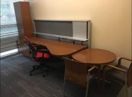 Steelcase Computer Desk Executive Steelcase Honey Cherry Veneer Desks Atlanta Office
