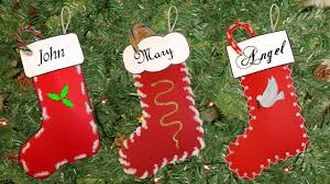 easy christmas stocking craft youtube