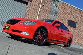 lexus red lexus ls460 zero red gwg wheels