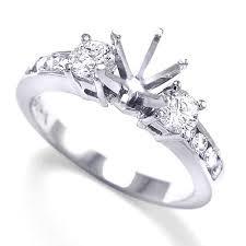 engagement ring setting anzor jewelry 14k white gold diamond engagement ring setting br