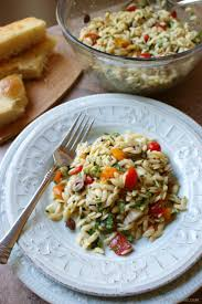 lemon orzo pasta salad with olives and tomatoes recipe