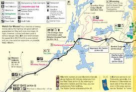 Algonquin Park Interior Camping Algonquin Park Map