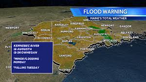 Portland Flooding Map by Flood Warnings Issued For Maine N H Rivers