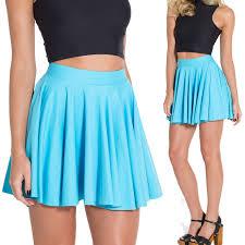 light blue skater skirt matte light blue skater skirt fashion mini short skirt pleated