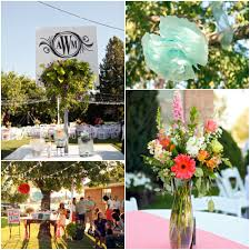Backyard Wedding Decorations Ideas Bright And Colorful Backyard Wedding Rustic Wedding Chic