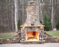 Outdoor Fireplaces Pictures by Outdoor Fireplaces Luxury Living Scapes Inc