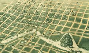 Birds Eye View Maps Sioux Falls South Dakota In 1881 Bird U0027s Eye View Map Aerial