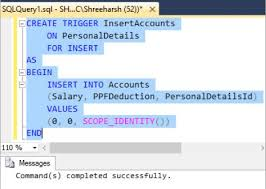 t sql insert into new table after insert triggers in sql server tech funda