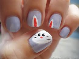 Easter Nail Designs Easy Easter Bunny Nail Art Designs U0026 Ideas 2014 For Beginners