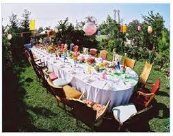 tea party table and chairs look how colorful and fun this outdoor tea party is borrow tea sets