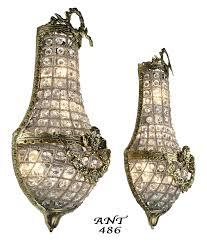 Chandelier Wall Sconce Vintage Hardware U0026 Lighting Antique French Basket Style Crystal