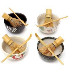 cuisine au thé japonais bambou chasen fouet matcha chashaku thé scoop en céramique